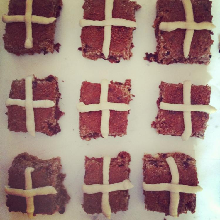 Raw Hot Cross Buns Gluten, Dairy Refined Sugar Free